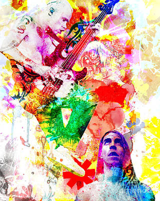 Musician Painting - Red Hot Chili Peppers  by Ryan Rock Artist