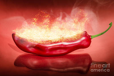 Digital Art - Red Hot Chilli Pepper by Jorgo Photography - Wall Art Gallery
