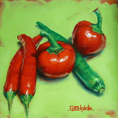 Painting - Red Hot Chilli Peppers by Margaret Stockdale