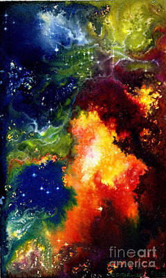 Painting - Red Hot Nebula by Carole  DiTerlizzi