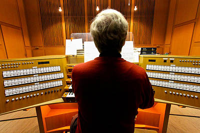 Photograph - Red Hot Organist by Jenny Setchell