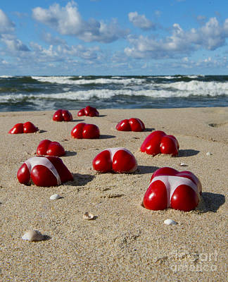 Hand Made Photograph - Red Hot Peppers by Jaroslaw Blaminsky