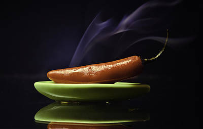Photograph - Red Hot Serrano Chilli by Paul Camhi