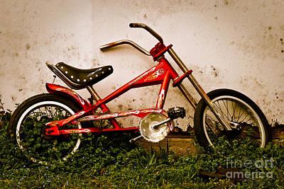 Red Hot Stingray Bike Art Print by Sonja Quintero