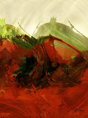 Digital Art - Red Hot by The Art Of JudiLynn