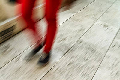 Photograph - Red Hot Walking by Karol Livote