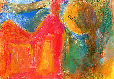 Mixed Media - Red House 3 by Catherine Redmayne