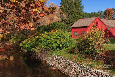 Photograph - Red House By The River by Charles Kozierok