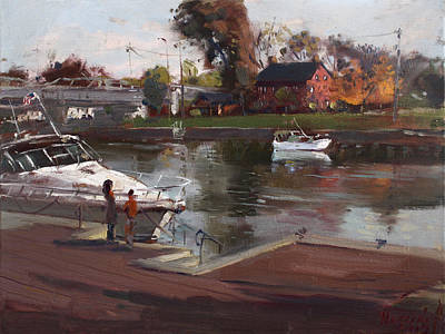 Reflections Painting - Red House In Tonawanda by Ylli Haruni