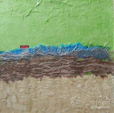 Mixed Media - Red House by Patricia  Tierney