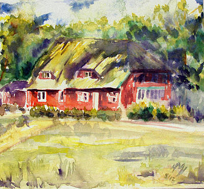 Red Houses In Prerow Baltic Sea Original
