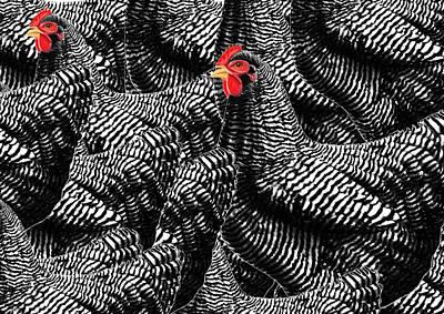 Logic Digital Art - Red In Black by PandaGunda