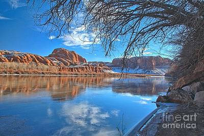 Red In The Green River Print by Adam Jewell