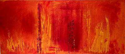 Painting - Red Inferno by Jacqueline Schreiber