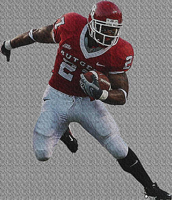 American Football Digital Art - Red Inpact by VRL Art