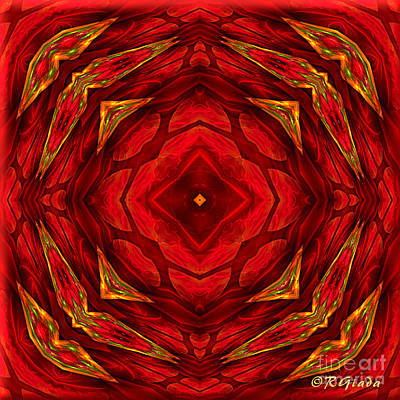 Red Involvements - Abstract Art By Giada Rossi Art Print by Giada Rossi