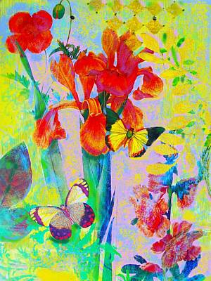 Red Irises Original by Susi Franco