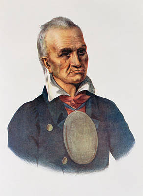 Medallion Photograph - Red Jacket, Seneca War Chief, 1828, Illustration From The Indian Tribes Of North America, Vol.1 by Charles Bird King
