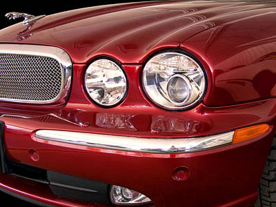 Upscale Photograph - Red Jaguar Palm Springs by William Dey