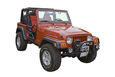 Photograph - Red Jeep Wrangler Rubicon by Keith Webber Jr