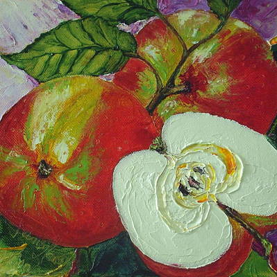 Red Johnagold Apples Art Print by Paris Wyatt Llanso