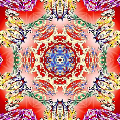 Digital Art - Red Karma by Derek Gedney