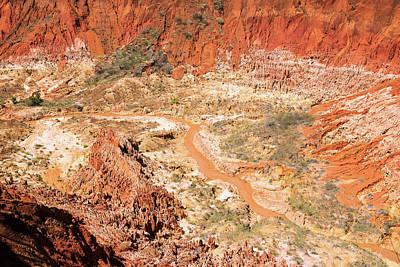 Strict Photograph - Red Karst Limestone Landscape by Dr P. Marazzi