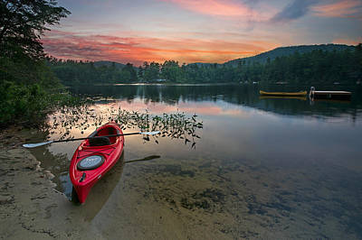 Kayak Photograph - Red Kayak by Darylann Leonard Photography