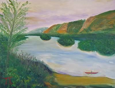 Red Kayak Original by Troy Thomas