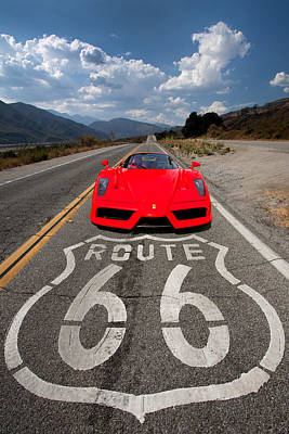 Photograph - Red Kicks On 66 by Peter Tellone