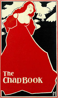 The Lady In Red Photograph - Red Lady The Chap Book1895 by Frank Hazenplug