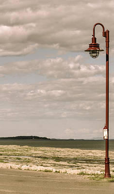 Photograph - Red Lamp Post by Martin New
