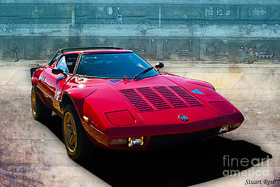 Photograph - Red Lancia Stratos by Stuart Row