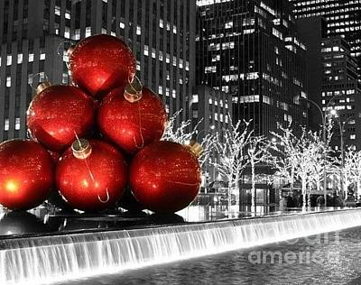 Photograph - Red Large Ornaments In The City by Living Color Photography Lorraine Lynch