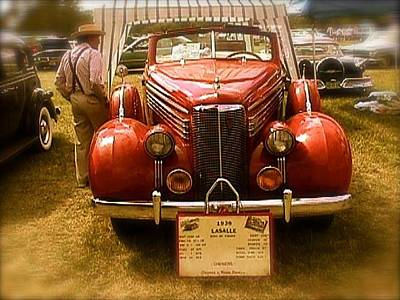 Photograph - Red Lasalle In Front Of A Tent by Amazing Photographs AKA Christian Wilson