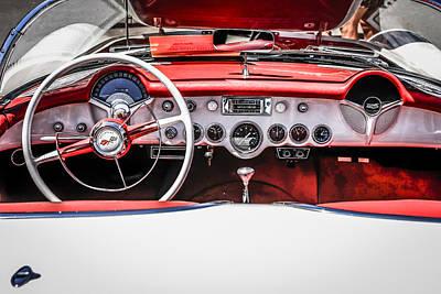Red Leather Corvette Original