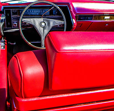 Photograph - Red Leather Seats by Christy Usilton