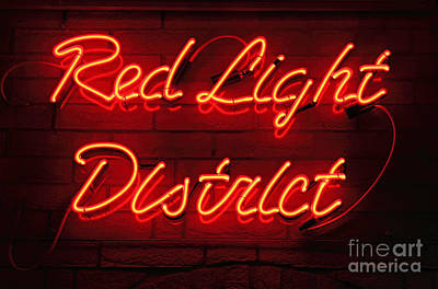 Red Light District Art Print by Kiril Stanchev