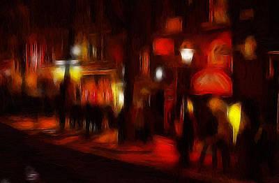 Red Light District Art Print by Steve K