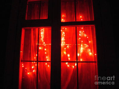 Photograph - Red Light In The Window by Ausra Huntington nee Paulauskaite