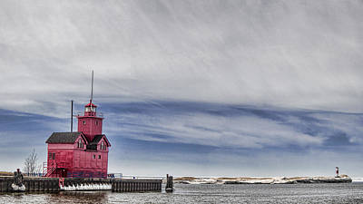 Photograph - Red Lighthouse by John Crothers