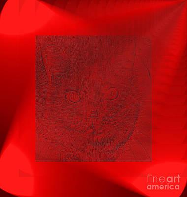 Digital Art - Red Lights by Oksana Semenchenko