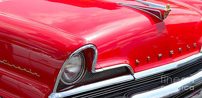 Photograph - red Lincoln closeup by Mark Spearman