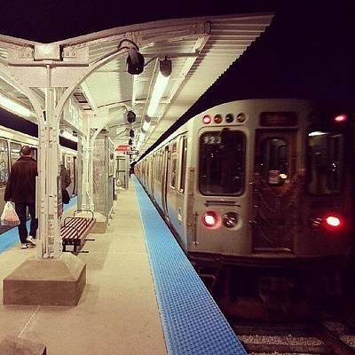 Train Photograph - Red Line Station by Jill Tuinier