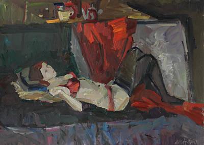 Painting - Red Lingerie by Juliya Zhukova