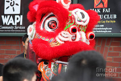 Year Of The Snake Photograph - Red Lion Starts To Dance  by Kym Backland