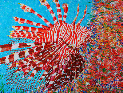Painting - Red Lionfish by Art Mantia
