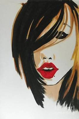 Painting - Red Lips by Marisela Mungia
