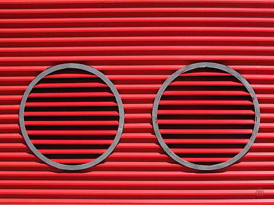 Photograph - Red Louvres by Ben Freeman