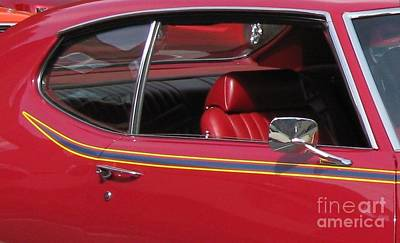 Photograph - Red Luxury. Classic Cars Series. by Ausra Huntington nee Paulauskaite